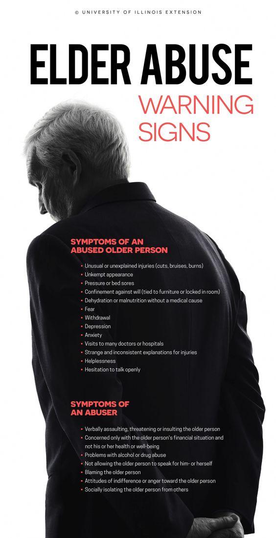 Elder Abuse Warning signs