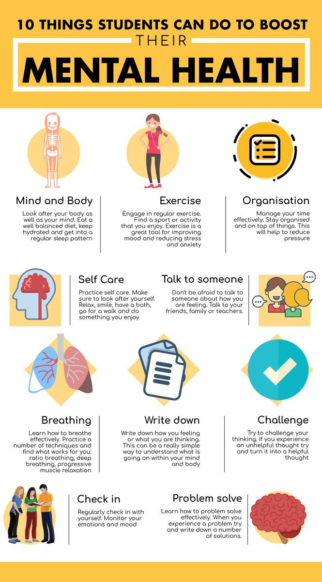Things students can do to boost their mental health