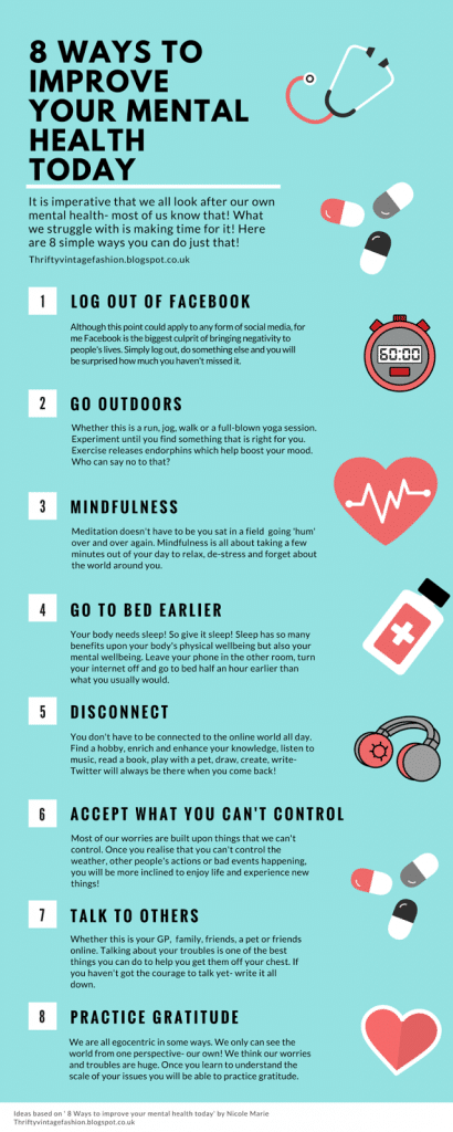 Ways to improve your mental health