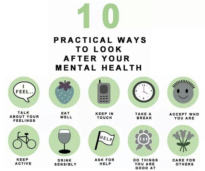 Ways to look after your mental health