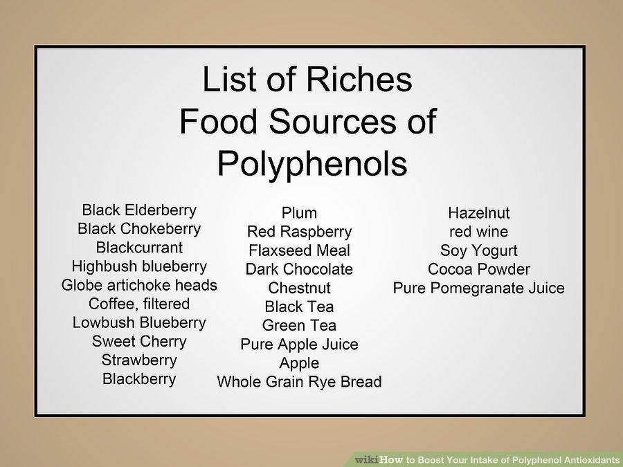 Food rich in Polyphenols