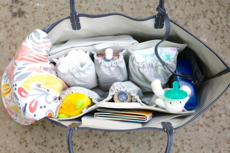 Multiple pockets in Diaper Bags