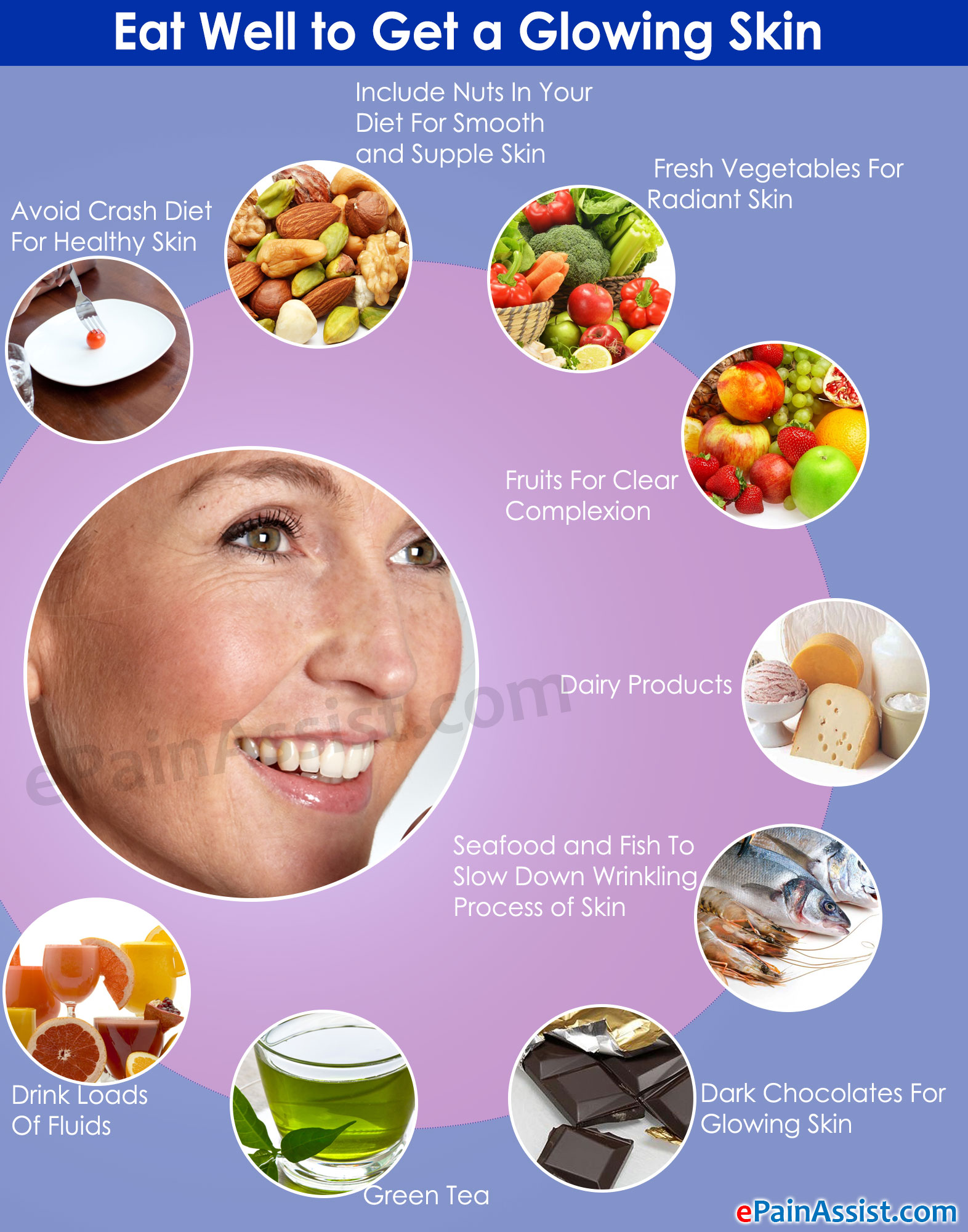 Eat Well to get a glowing skin