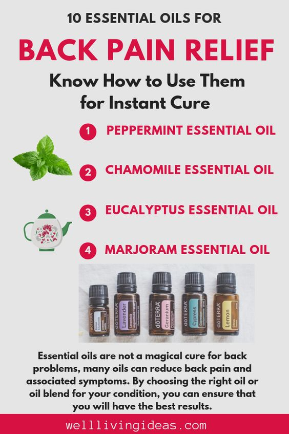 Essential Oils for Back Pain Relief