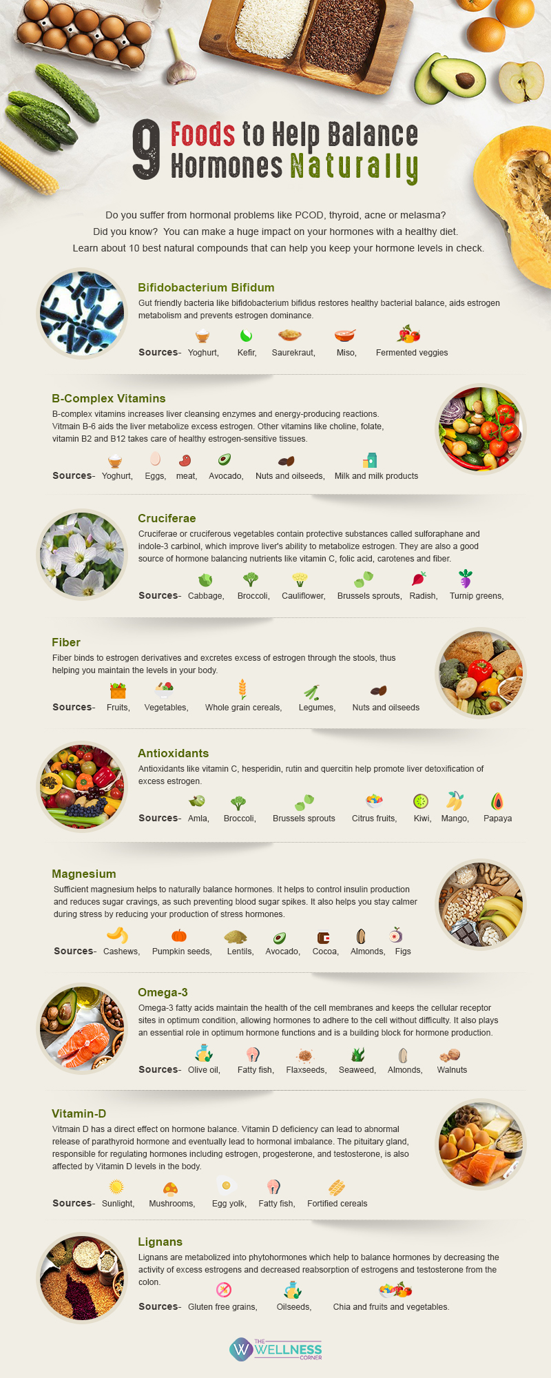 Foods to help balance hormones naturally