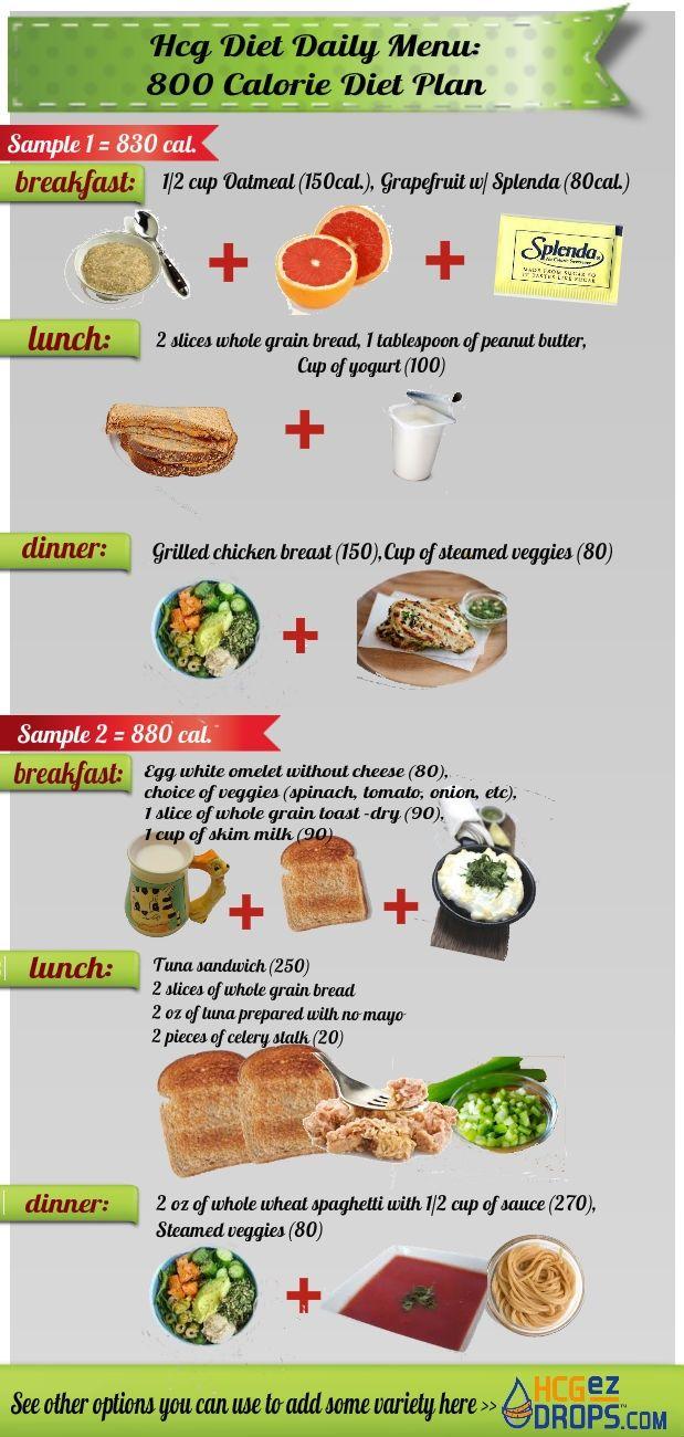 HCG Diet Menu