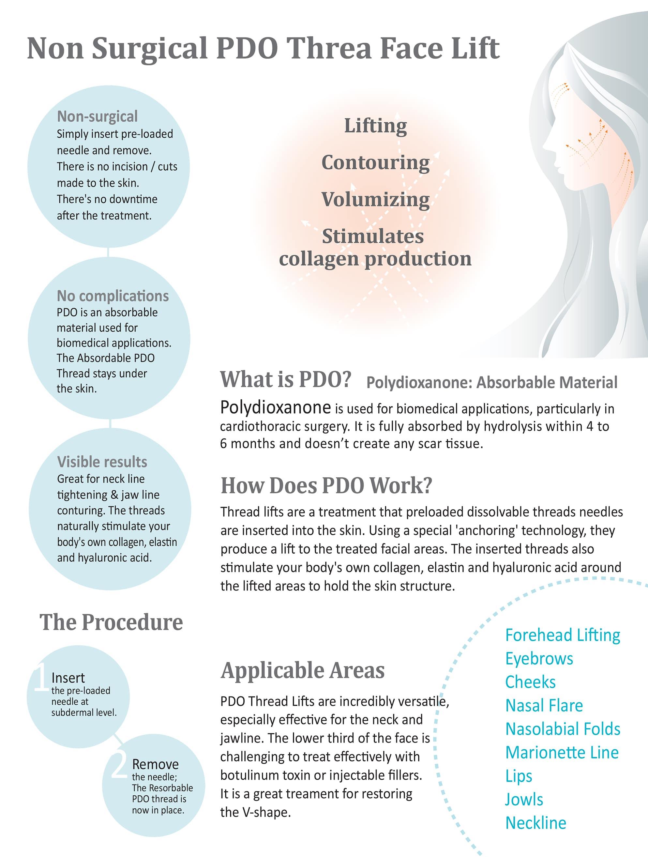 Non-surgical PDO Thread Face Lift
