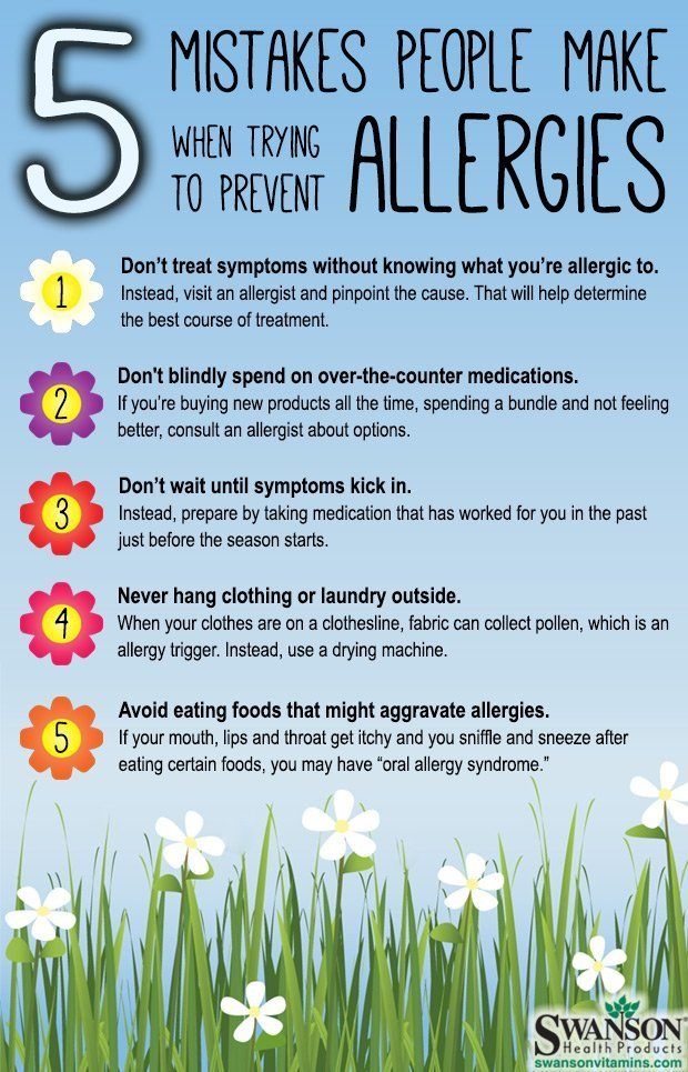 Mistakes people make while preventing allergies