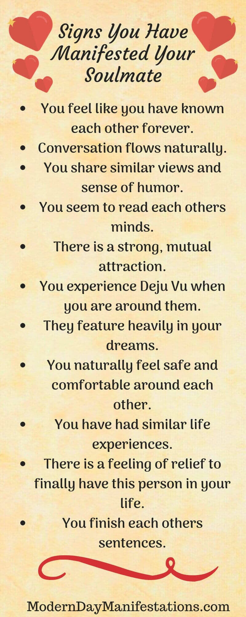 Signs you have manifested your soulmate