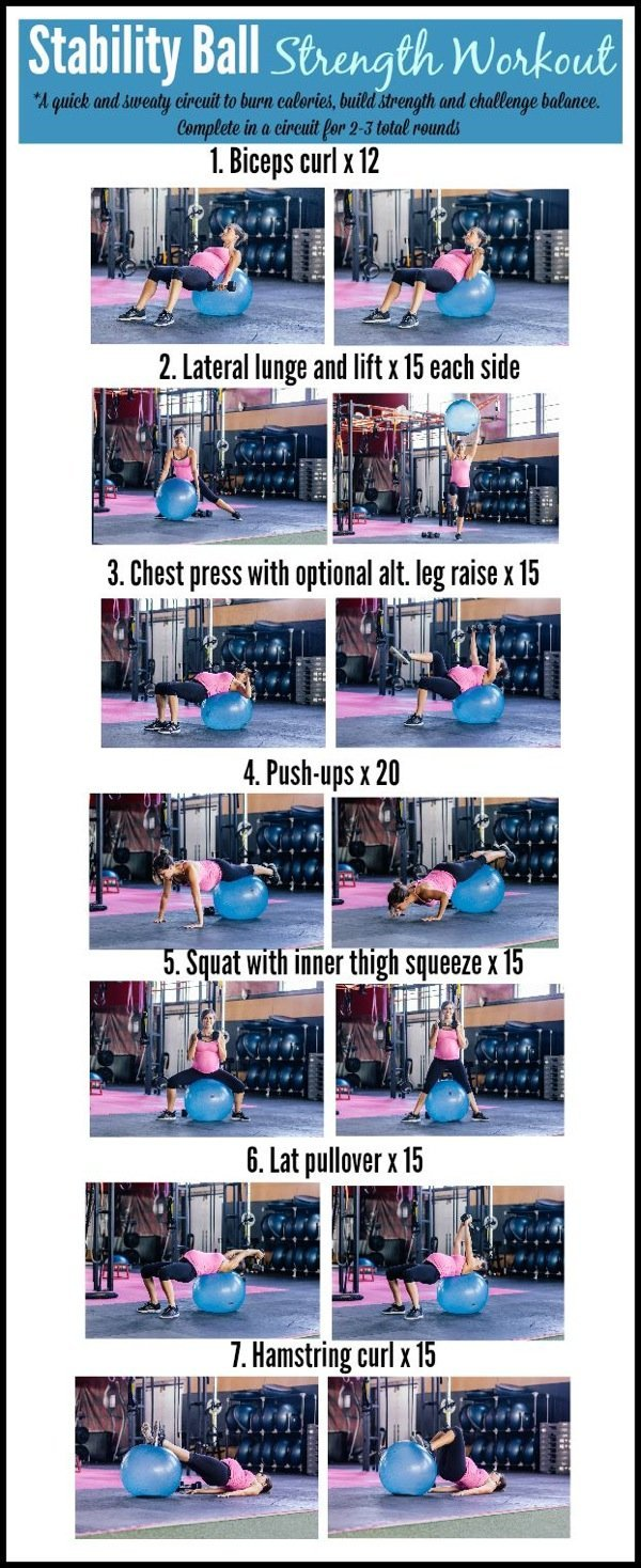 Fitness Ball Strength Workout