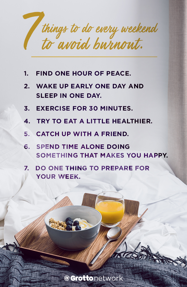 Thing to do every Weekend to avoid Burnout
