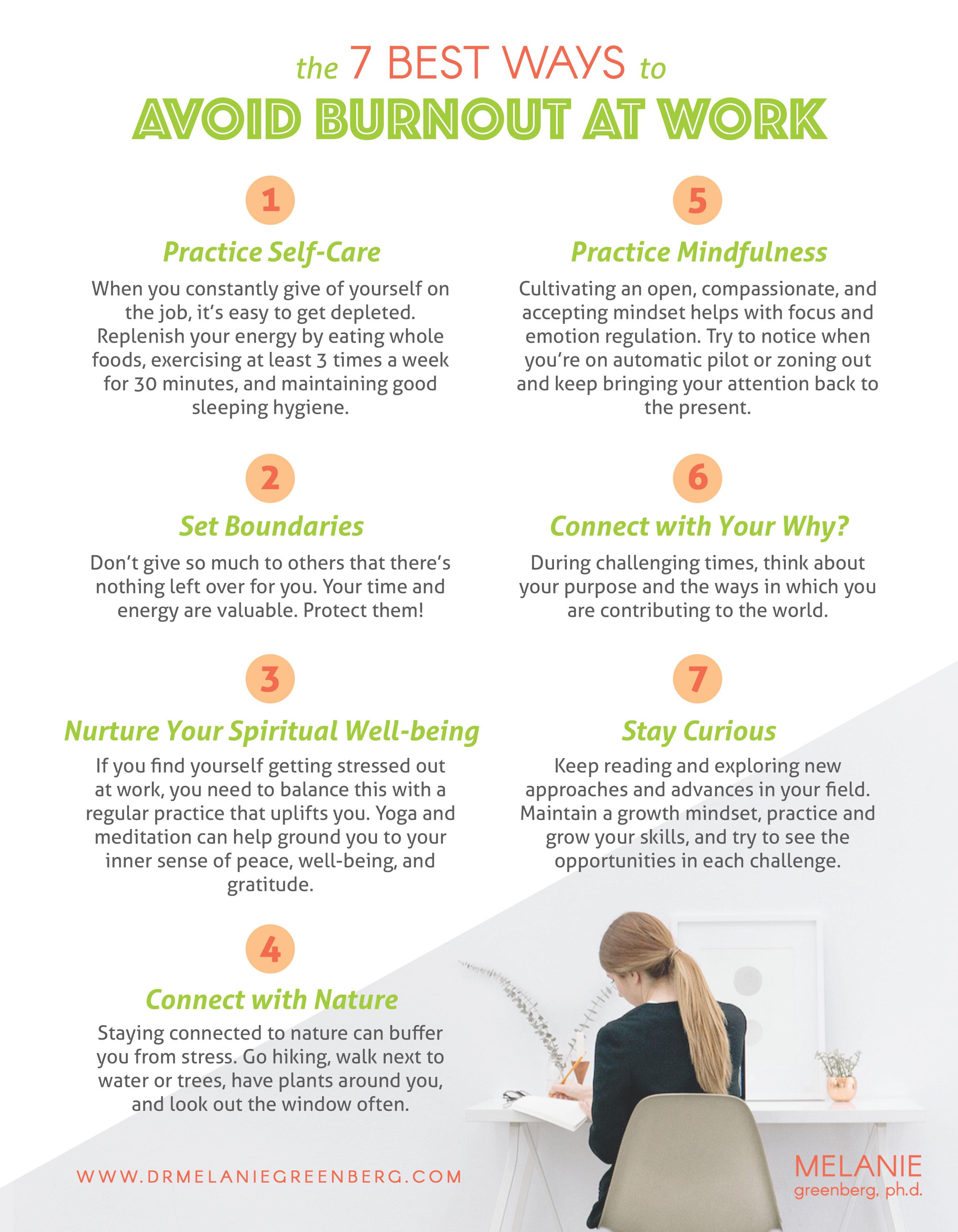 Ways To Avoid Burnout at Work