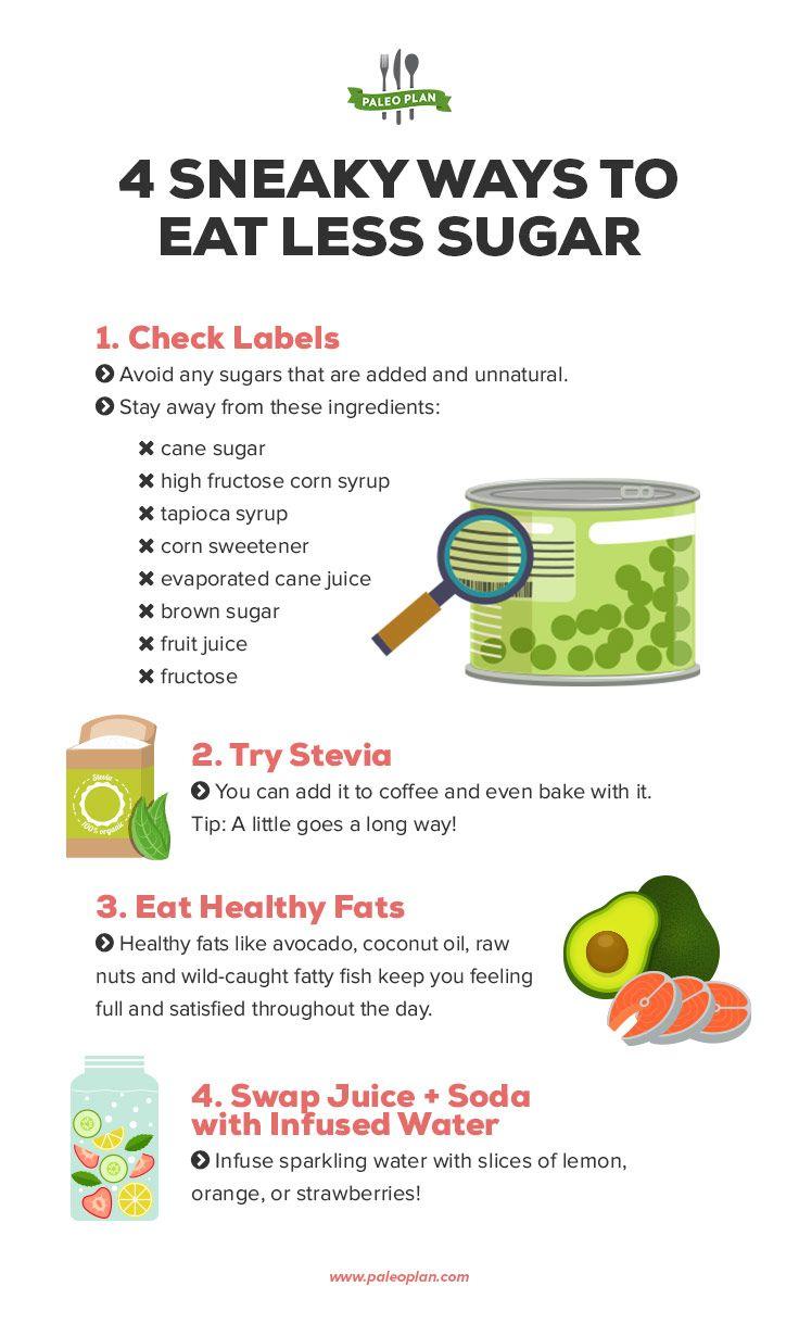 Ways to eat less sugar