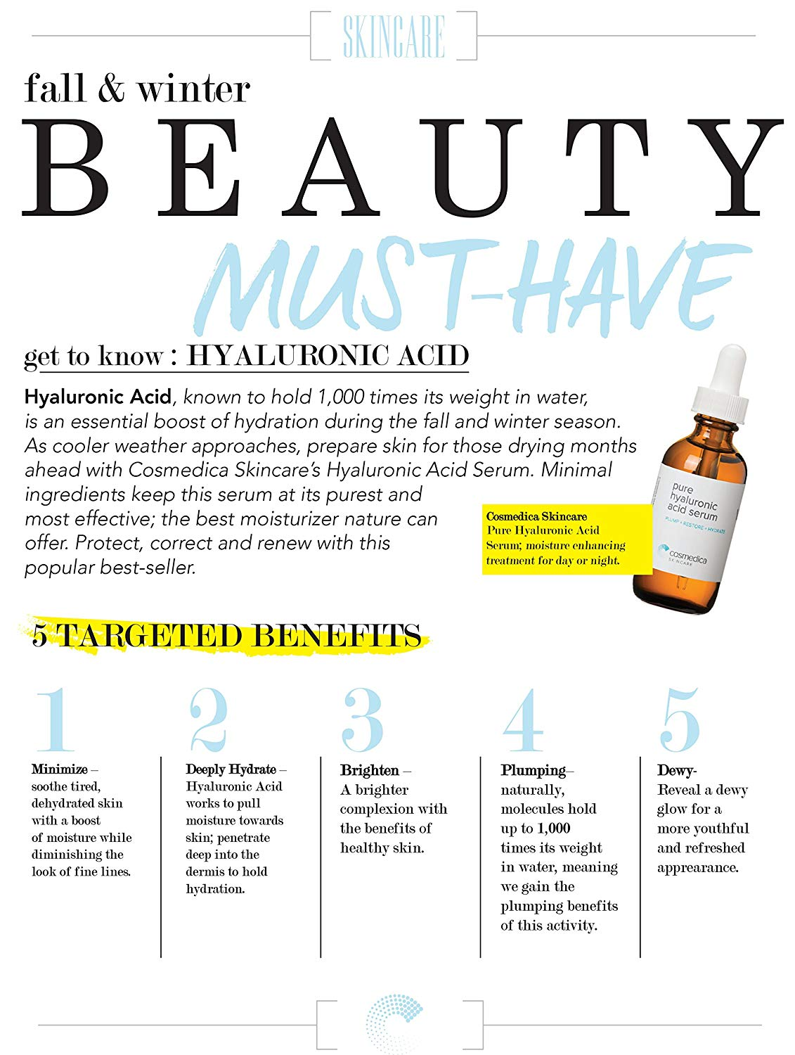 Must have Hyaluronic Acid Serum for Skincare