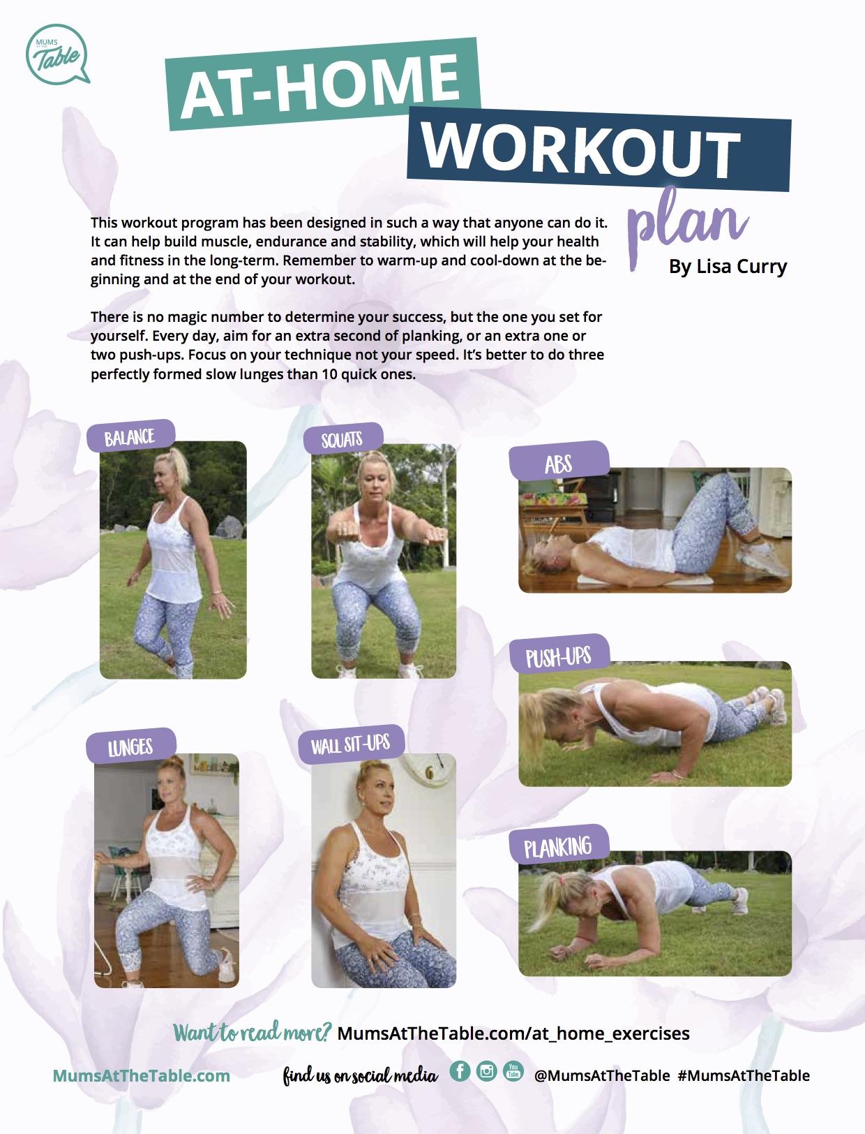 At-home workout plan