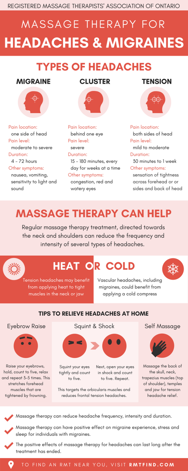 Massage therapy for headaches