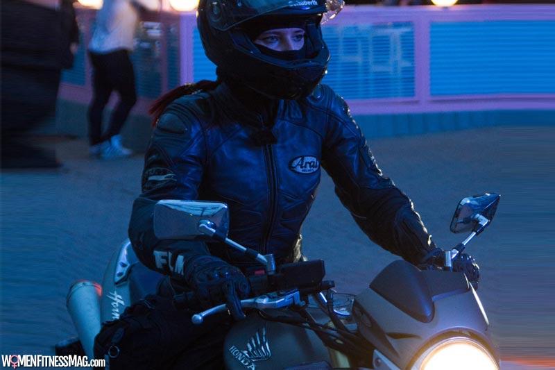 Women riding motorcycle