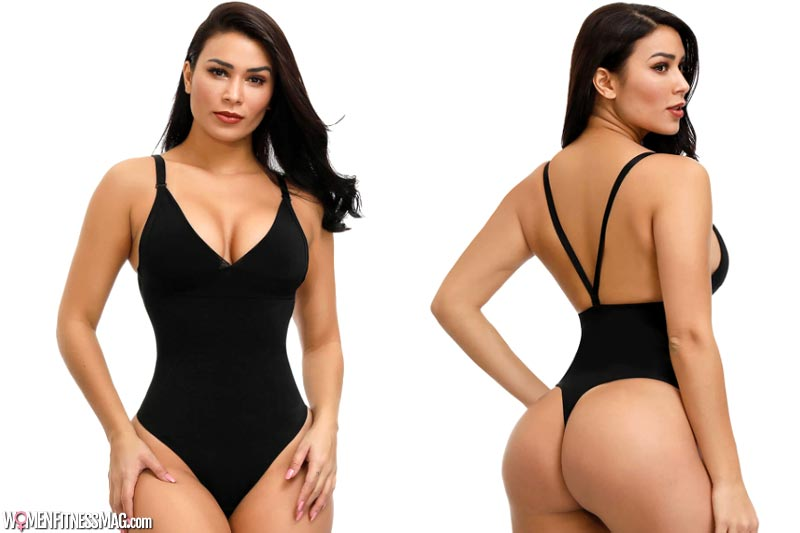 Thong shapewear to go with deep necklines and backless dresses
