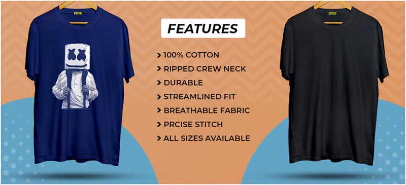 Features of T-Shirts