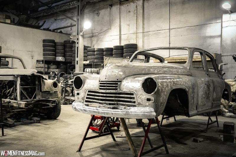 How is the car prepped for painting?