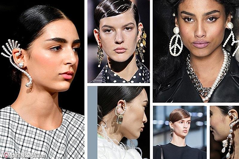 Different earrings in each ear or a single earring